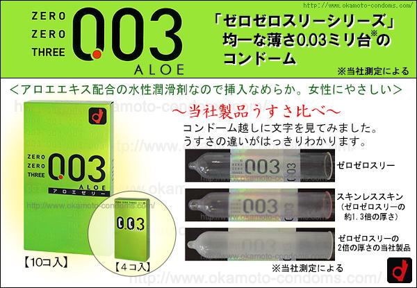 コンドーム「003アロエ(ゼロゼロスリーアロエ)」