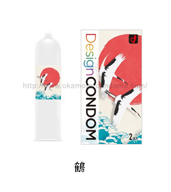 鶴デザインコンドームイメージ